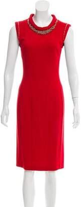 Blumarine Sleeveless Embellished Dress