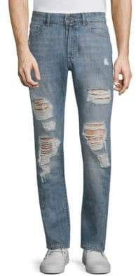 Cooper Distressed Cotton Skinny Jeans