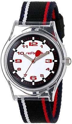 clear Red Balloon Kids' W001892 Tween Plastic Watch with Striped Nylon Band