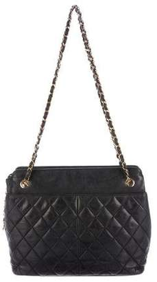 Chanel Lambskin Quilted Shopping Tote