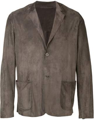 Salvatore Santoro formal-cut suede jacket