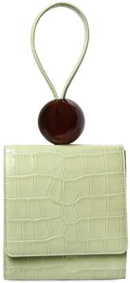 Ball Croc Embossed Leather Bag