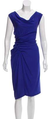 Halston Silk-Blend Midi Dress