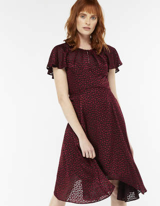 Monsoon Harper Heart Print Hanky Hem Dress