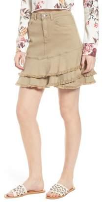 BP Tiered Fray Hem Skirt