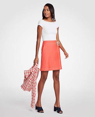 Ann Taylor Chambray Wrap A-Line Skirt