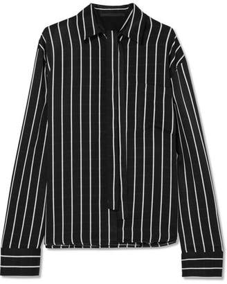 Haider Ackermann Striped Matte-satin Shirt - Black