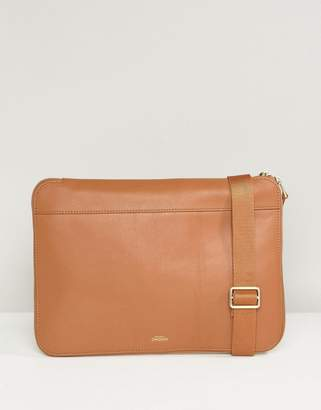 At Asos Knomo Mason Ed Leather Clutch Bag