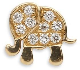 Loquet London Diamond 18k yellow gold elephant charm - Happiness