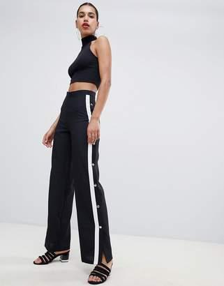PrettyLittleThing Popper Contrast Stripe Pants
