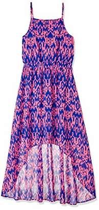 Serene Bohemian Women's Ikat Print up-Down Hem Strap Dress ()