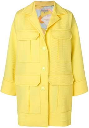 Emilio Pucci textured patch pocket coat