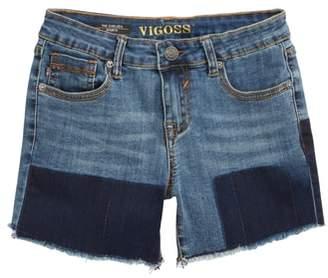 Vigoss Shadow Frayed Cutoff Denim Shorts