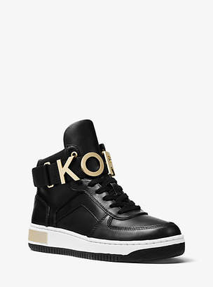 Michael Kors Cortlandt Embellished Leather High-Top Sneaker