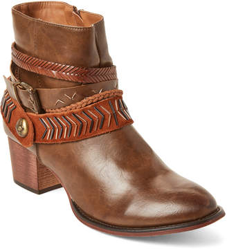 Gc Shoes Cognac Randee Western Booties