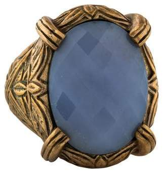 Stephen Dweck Dyed Chalcedony Cocktail Ring