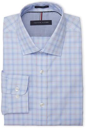Tommy Hilfiger Blue Bay Slim Fit Non-Iron Check Dress Shirt