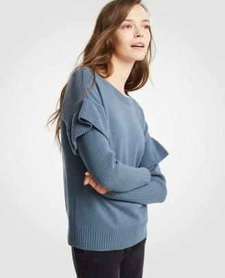 Ann Taylor Flounce Sleeve Sweater