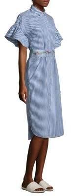 Max Mara Orfeo Flutter Sleeve Dress