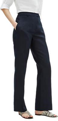 Jaeger Parallel Linen Trousers, Navy