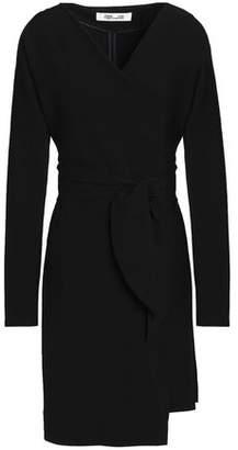 Diane von Furstenberg Crepe Mini Wrap Dress