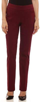 Liz Claiborne Womens Straight Fit Straight Trouser-Petite