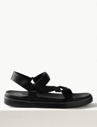 Light As AirTMMarks and Spencer Flatform Velcro Two Band Sandals