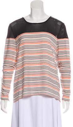 Charles Henry Stripe Long Sleeve Top