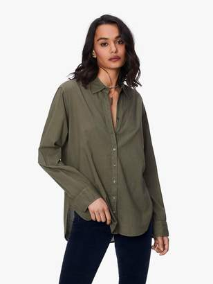XiRENA Beau Cotton Poplin Shirt - Bottle Green