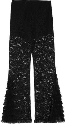 Givenchy Lace Flared Pants - Black