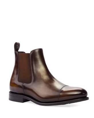 Ike Behar Men's Patina Leather Chelsea Boots