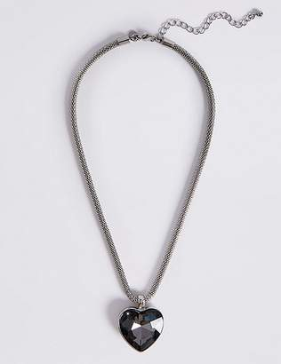 Marks and Spencer Glass Heart Pendant Necklace