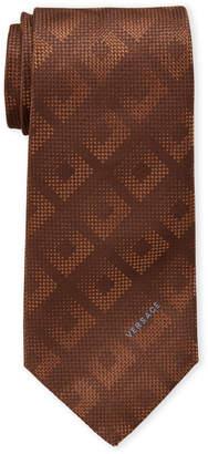 Versace Tan Silk Tie