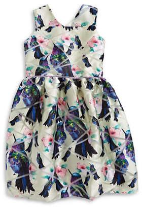 PASTOURELLE Bird and Floral-Print Dress
