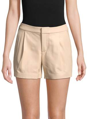 Alice + Olivia Women's Arosa Leather Pleated Short