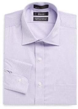 Saks Fifth Avenue BLACK Classic-Fit Gingham Dress Shirt
