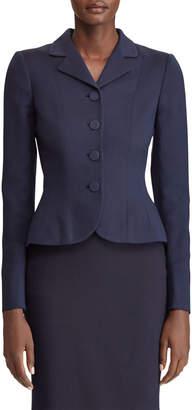 Ralph Lauren Beatrice Button-Front Wool-Silk Blazer