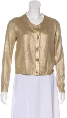 Burberry Metallic Silk Cardigan