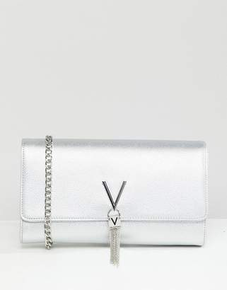 Mario Valentino Valentino by Tassel Detail Clutch Bag With Cross Body Strap