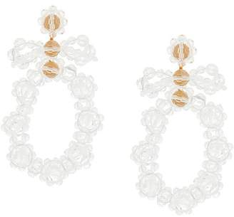 Simone Rocha beaded hoop earring