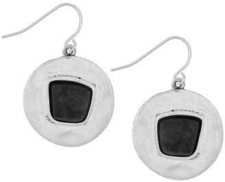 The Sak Round Drop Stone Earrings