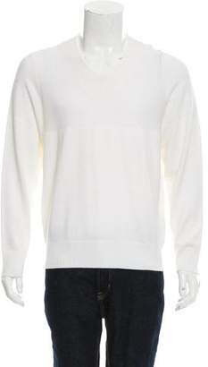 Kent & Curwen Rib Knit V-Neck Sweater w/ Tags