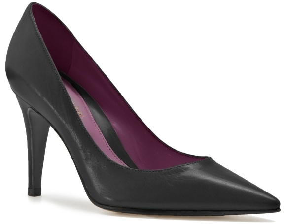 Sergio Rossi High-Heel Leather Pump - Black