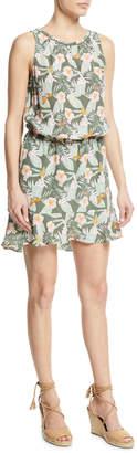 Joie Sabera Silk Floral-Print Blouson Dress