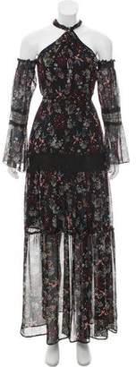 Nicholas Floral Print Halter Dress