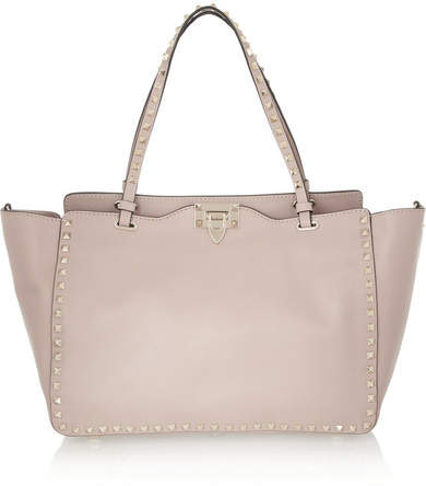 Valentino - The Rockstud Medium Leather Trapeze Bag - Blush