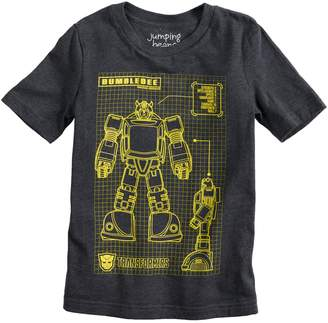 "Bumble Bee Boys 4-10 Jumping Beans Transformers ""Bumblebee"" Graphic Tee"