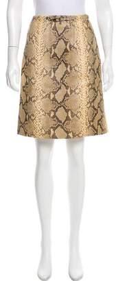 Gucci Python Knee-Length Skirt