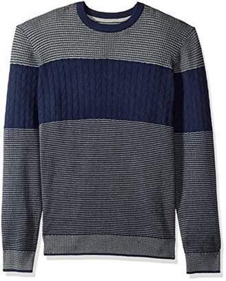 Izod Men's Colorblock Jacquard 9 Gauge Crewneck Sweater