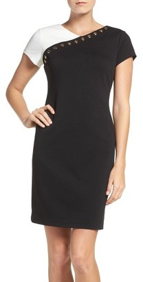 Women's Ellen Tracy Ponte Sheath Dress $118 thestylecure.com